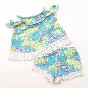 Rare Editions tropical print outfit set